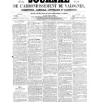 Le Journal de l'arrondissement de Valognes, numéro du 23 juillet 1858