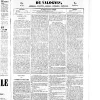 Le Journal de l'arrondissement de Valognes, numéro du 31 mai 1850