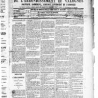 Le Journal de l'arrondissement de Valognes, numéro du 27 décembre 1889