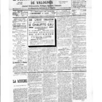Le Journal de l'arrondissement de Valognes, numéro du 26 mai 1934