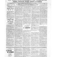 Le Journal de l'arrondissement de Valognes, numéro du 29 octobre 1909
