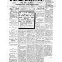 Le Journal de l'arrondissement de Valognes, numéro du 21 avril 1934