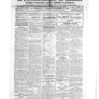 Le Journal de l'arrondissement de Valognes, numéro du 30 avril 1921