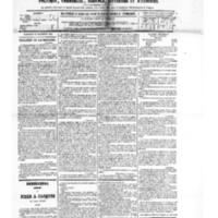 Le Journal de l'arrondissement de Valognes, numéro du 10 novembre 1882