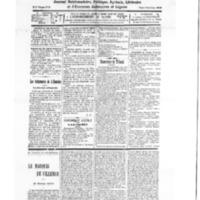 Le Journal de l'arrondissement de Valognes, numéro du 20 septembre 1930