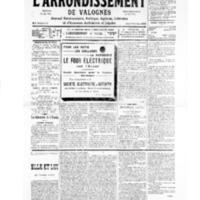 Le Journal de l'arrondissement de Valognes, numéro du 10 août 1935
