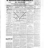 Le Journal de l'arrondissement de Valognes, numéro du 15 décembre 1934