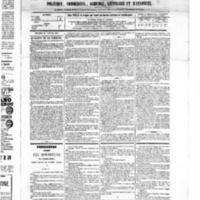 Le Journal de l'arrondissement de Valognes, numéro du 29 janvier 1875