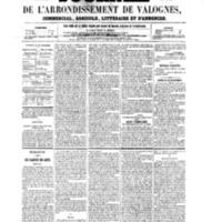Le Journal de l'arrondissement de Valognes, numéro du 11 novembre 1859