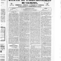 Le Journal de l'arrondissement de Valognes, numéro du 07 mai 1852