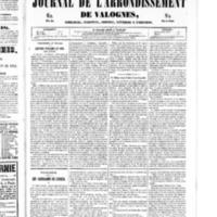 Le Journal de l'arrondissement de Valognes, numéro du 01 février 1850