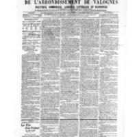Le Journal de l'arrondissement de Valognes, numéro du 06 juillet 1906