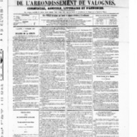 Le Journal de l'arrondissement de Valognes, numéro du 01 novembre 1867