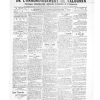 Le Journal de l'arrondissement de Valognes, numéro du 25 octobre 1907