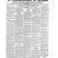 Le Journal de l'arrondissement de Valognes, numéro du 24 mai 1907