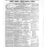 Le Journal de l'arrondissement de Valognes, numéro du 02 septembre 1881
