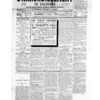 Le Journal de l'arrondissement de Valognes, numéro du 12 mai 1934