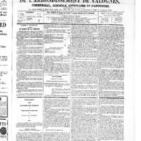 Le Journal de l'arrondissement de Valognes, numéro du 08 février 1867