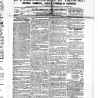 Le Journal de l'arrondissement de Valognes, numéro du 27 février 1880