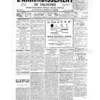 Le Journal de l'arrondissement de Valognes, numéro du 18 mai 1935