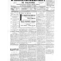 Le Journal de l'arrondissement de Valognes, numéro du 13 juillet 1935