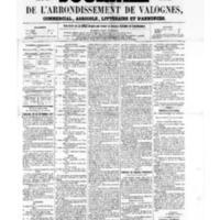 Le Journal de l'arrondissement de Valognes, numéro du 30 septembre 1859