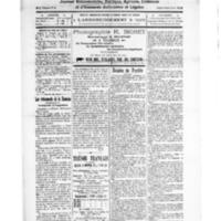 Le Journal de l'arrondissement de Valognes, numéro du 15 novembre 1924