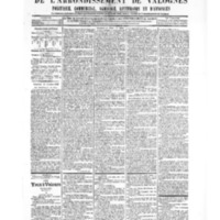 Le Journal de l'arrondissement de Valognes, numéro du 13 octobre 1905