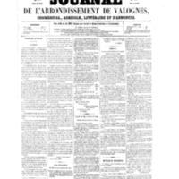 Le Journal de l'arrondissement de Valognes, numéro du 30 juillet 1858