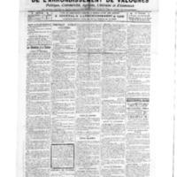 Le Journal de l'arrondissement de Valognes, numéro du 12 février 1921