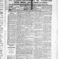Le Journal de l'arrondissement de Valognes, numéro du 21 février 1890