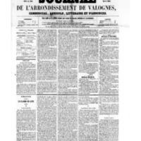 Le Journal de l'arrondissement de Valognes, numéro du 04 novembre 1859