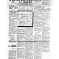 Le Journal de l'arrondissement de Valognes, numéro du 07 juillet 1934