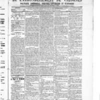 Le Journal de l'arrondissement de Valognes, numéro du 20 janvier 1905