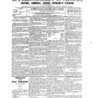 Le Journal de l'arrondissement de Valognes, numéro du 11 novembre 1881