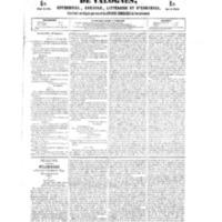 Le Journal de l'arrondissement de Valognes, numéro du 20 janvier 1854