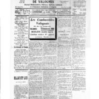 Le Journal de l'arrondissement de Valognes, numéro du 12 janvier 1935