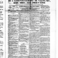 Le Journal de l'arrondissement de Valognes, numéro du 05 mars 1880