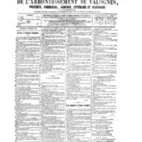 Le Journal de l'arrondissement de Valognes, numéro du 28 février 1879