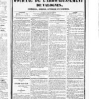 Le Journal de l'arrondissement de Valognes, numéro du 27 février 1852