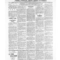 Le Journal de l'arrondissement de Valognes, numéro du 22 janvier 1909