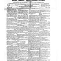 Le Journal de l'arrondissement de Valognes, numéro du 08 septembre 1882