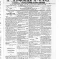 Le Journal de l'arrondissement de Valognes, numéro du 30 août 1867