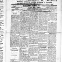 Le Journal de l'arrondissement de Valognes, numéro du 05 avril 1889