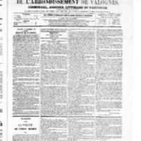 Le Journal de l'arrondissement de Valognes, numéro du 18 décembre 1868