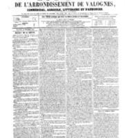 Le Journal de l'arrondissement de Valognes, numéro du 22 décembre 1865