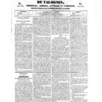 Le Journal de l'arrondissement de Valognes, numéro du 13 octobre 1854
