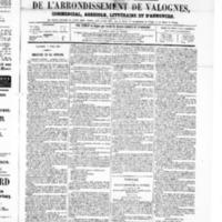 Le Journal de l'arrondissement de Valognes, numéro du 05 avril 1867