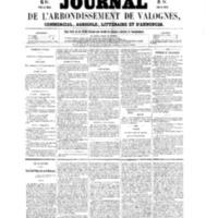 Le Journal de l'arrondissement de Valognes, numéro du 02 avril 1858