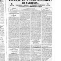 Le Journal de l'arrondissement de Valognes, numéro du 16 juillet 1852